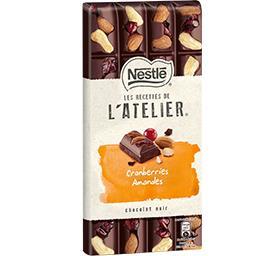 Nestlé Grand Chocolat Les Recettes de L'Atelier - Chocolat noir cranberrie...