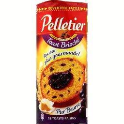 Pelletier - Toasts briochés pur beurre aux raisins