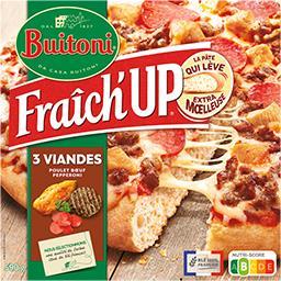 Buitoni Buitoni Fraîch'Up - Pizza 3 viandes poulet bœuf pepperoni la boite de 590 g