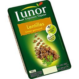 Lunor Lunor Légumes Vapeur - Lentilles la barquette de 500 g