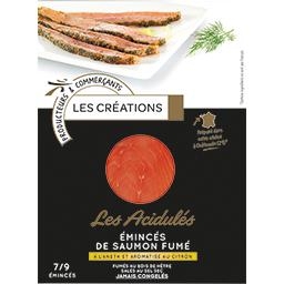 Les Acidulés Emincés de saumon fumé aneth et citron