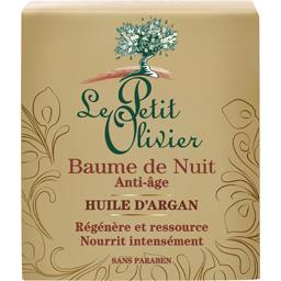 Le Petit Olivier Baume de nuit anti-âge huile d'argan