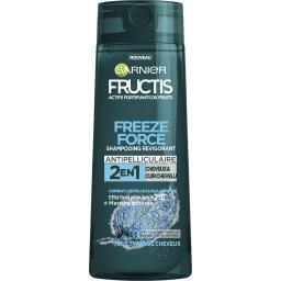 Garnier Fructis Freeze Force - Shampooing revigorant 2 en 1 menthe poivrée le flacon de 250 ml