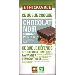Ethiquable Ethiquable Chocolat noir caramel pointe de sel BIO la tablette de 100 g