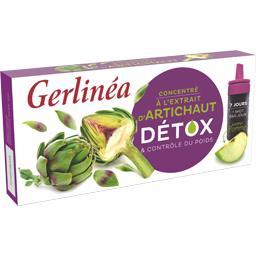 Gerlinéa Gerlinéa Concentré à l'extrait d'artichaut Détox saveur pomme la boite de 7 - 70 ml