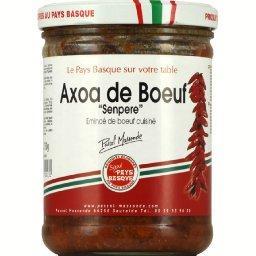 Emincé de bœuf cuisiné, Axoa de bœuf 'Senpere'