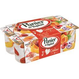 Yaourts Le Crémeux fraise, abricot, pêche, cerise