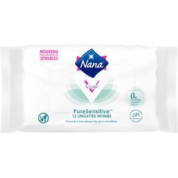 Nana Nana Lingettes intimes PureSensitive le paquet de 12
