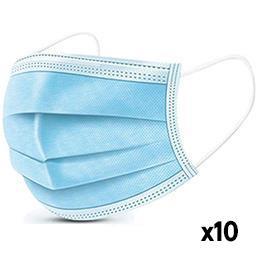 Inconnu Notre sélection Masques chirurgicaux à usage unique le lot de 10 masques
