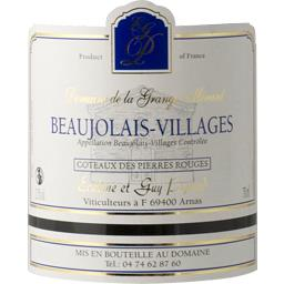Beaujolais villages, vin rouge