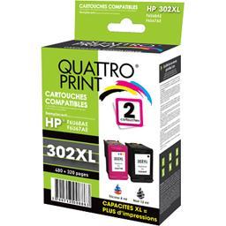 Pack cartouches compatibles HP 302XL, noir tricolor
