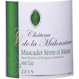 Château La Malonnière, Muscadet Sèvre et Maine sur Lie, vin blanc sec, 2015