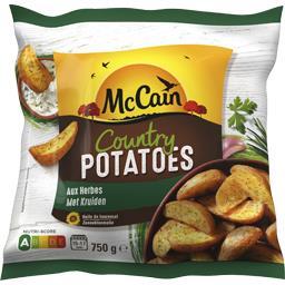 Country Potatoes aux herbes, quartiers de pommes de ...