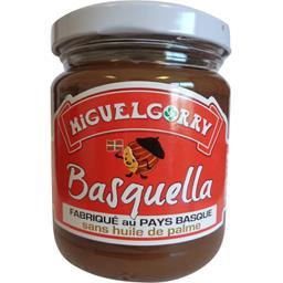 Miguelgorry Pâte à tartiner Basquella chocolat et noisettes le pot de 220 g
