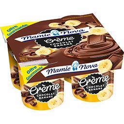 Mamie Nova Dessert lacté crème chocolat banane les 4 pots de 150 g