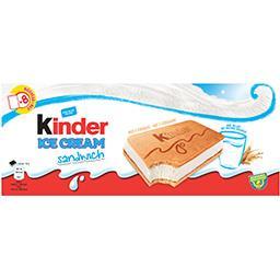 Glace lait sandwich aux céréales Kinder