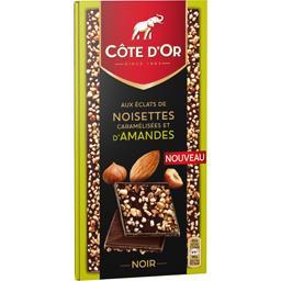Chocolat noir éclats de noisettes caramélisées et d'...