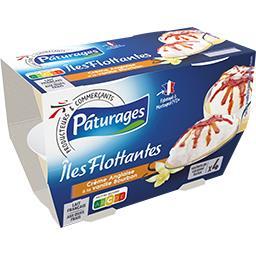 Iles flottantes sur crème anglaise à la vanille Bour...