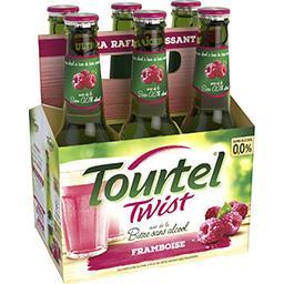 Tourtel Twist Tourtel Twist, bière sans alcool aromatisée framboise le pack de 6 bouteilles de 27,5cL