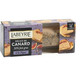 Délice de canard 20% foie gras à la figue