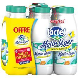 Lactel Lactel Lait Matin Léger 0% MG U.H.T. facile à digérer le pack de 6X1L - 6L