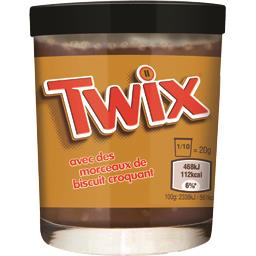 Twix Twix Pâte à tartiner cacao goût caramel et morceaux de biscuit le pot de 200 g