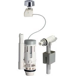Kit chasse d'eau avec mécanisme à bouton et robinet