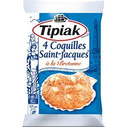 Tipiak Tipiak Coquilles Saint-Jacques à la bretonne le sachet de 4 - 360 g