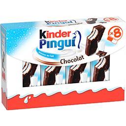 Kinder Kinder Pingui - Génoise fourré mousse au lait la boite de 8 - 30 g