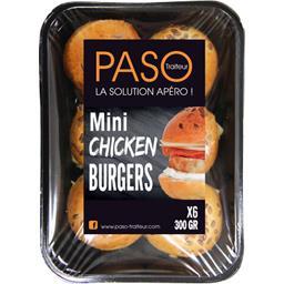 Paso Traiteur Mini chicken burgers la barquette de 6 - 300 g