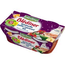 Blédina Blédina Blédîner - Ratatouille petits macaroni lait, dès 12 mois les 2 bols de 200 g