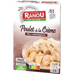 Poulet à la crème riz & champignons