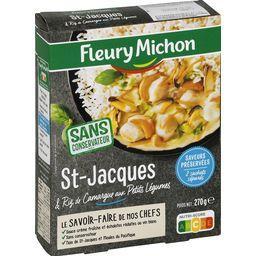 Etuvée de St-Jacques aux petits légumes et riz basma...