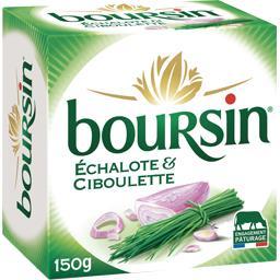 Boursin Boursin Fromage échalote & ciboulette la boite de 150 g