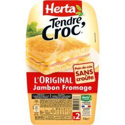 Tendre Croc' - Croque-monsieur sans croûte jambon fr...