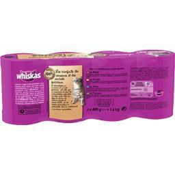 Aliment pour chat en terrine aux viandes/poisson 4 v...