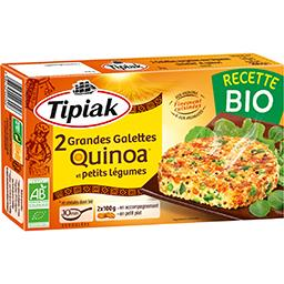 Tipiak Tipiak Grandes galettes quinoa et petits légumes BIO la boite de 2 - 200 g