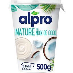 Alpro Alpro Dessert végétal nature à la noix de coco le pot de 500 g