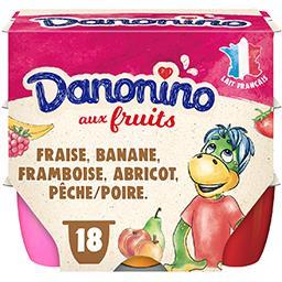 Danone Danone Danonino - Fromage blanc aux fruits les 18 pots de 50 g
