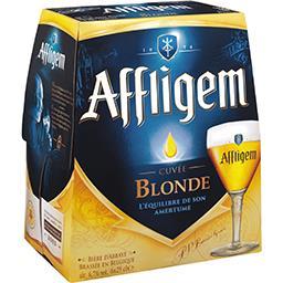 Affligem Affligem Bière blonde brassée en Belgique les 6 bouteilles de 25 cl