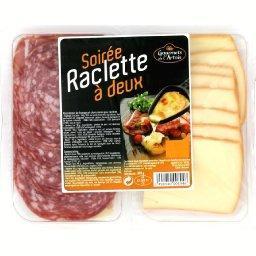 Assortiment de fromage et charcuteries pour raclette, pour 2
