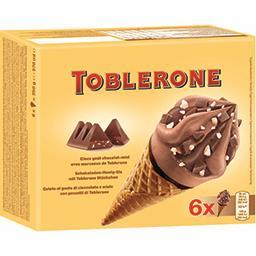 Toblerone Toblerone Glaces goût chocolat miel avec morceaux la boite de 6 - 570 ml