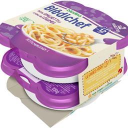 Blédina Blédina Blédichef - Petits Spaghetti et crème de légumes, dès 12 mois les 2 assiettes de 230 g