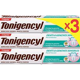 Colgate Colgate Tonigencyl dentifrice dents et gencives sensibles le lot de 3 tubes de 75 ml