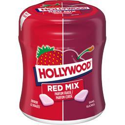 Hollywood Hollywood Red Mix - Chewing-gum dragées parfum frais sans sucres la boite de 87 g