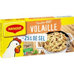 Maggi Maggi Bouillon volaille sel réduit la boite de 12 cubes - 120 g