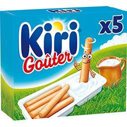Kiri Kiri Goûter - Spécialité fromagère fondue et gressins les 5 barquettes de 35 g
