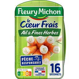 Fleury Michon Fleury Michon Le Cœur Frais - Bâtonnets fromage ail & fines herbes la barquette de 16 - 256 g