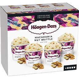 Häagen-Dazs Haagen-Dazs Obsessions Collection - Crème glacée vanille macadamia les 4 pots de 81 g