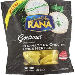 Grand ravioli fromage de chèvre & fines herbes